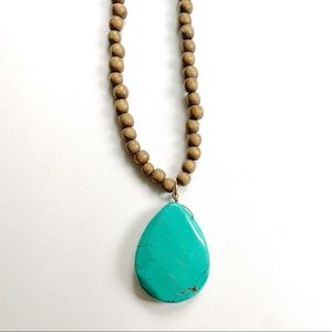 Anthropologie Necklace with turqoise stone.